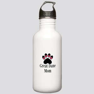 Great Dane Mom Paw Print Water Bottle