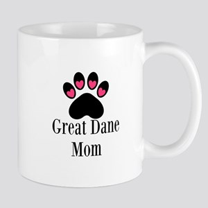 Great Dane Mom Paw Print Mugs