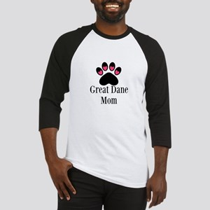Great Dane Mom Paw Print Baseball Jersey