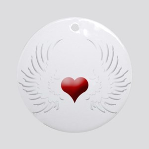 HEART WINGS Ornament (Round)