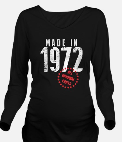 Made In 1972, All Original Parts Long Sleeve Mater