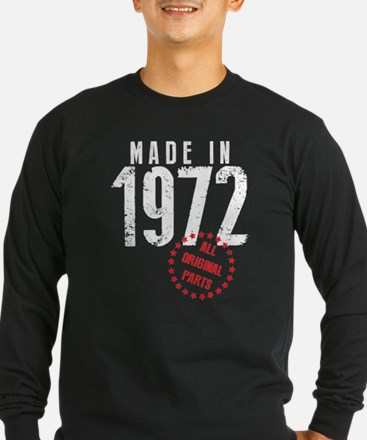 Made In 1972, All Original Parts Long Sleeve T-Shi