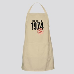Made In 1974, All Original Parts Apron
