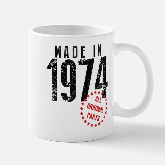 Made In 1974, All Original Parts Mugs