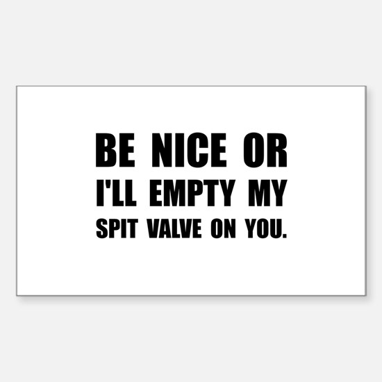 Empty My Spit Valve Decal