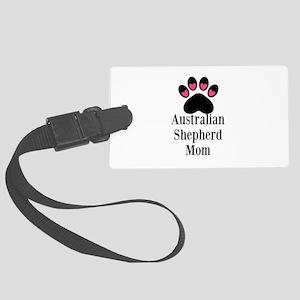 Australian Shepherd Mom Luggage Tag