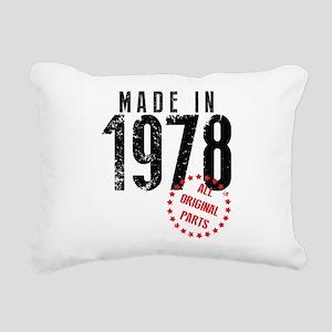 Made In 1978, All Original Parts Rectangular Canva
