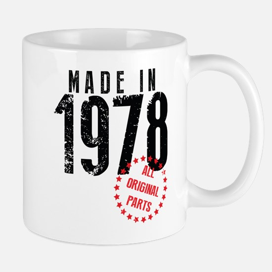 Made In 1978, All Original Parts Mugs
