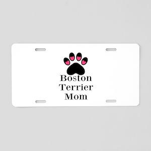 Boston Terrier Mom Aluminum License Plate