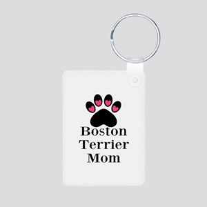 Boston Terrier Mom Keychains