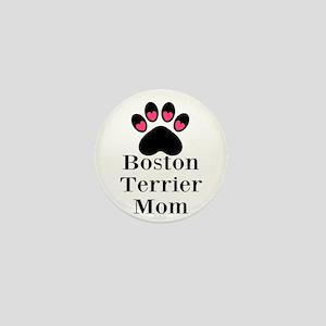 Boston Terrier Mom Mini Button