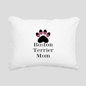 Boston Terrier Mom Rectangular Canvas Pillow