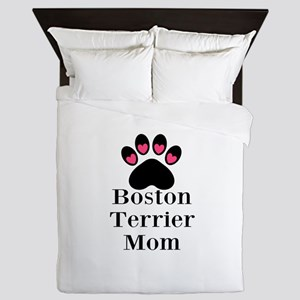 Boston Terrier Mom Queen Duvet