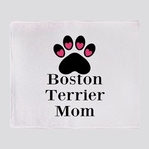 Boston Terrier Mom Throw Blanket