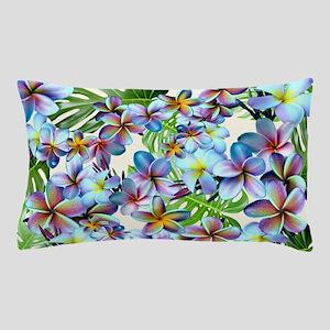 Rainbow Plumeria Pattern Pillow Case