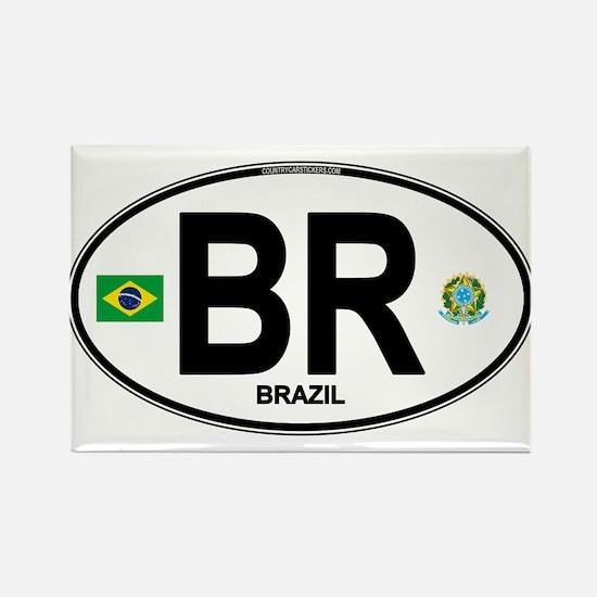 Brazil Intl Oval s Magnets