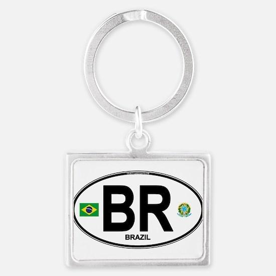 Brazil Intl Oval Keychains