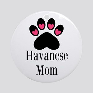 Havanese Mom Ornament (Round)