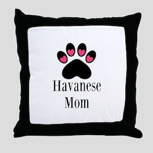 Havanese Mom Throw Pillow