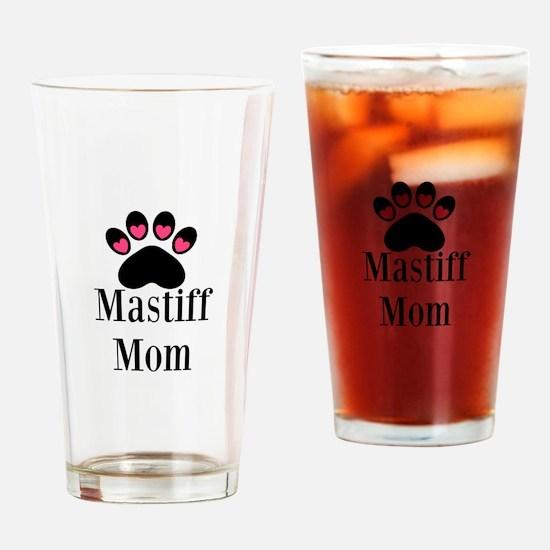 Mastiff Mom Drinking Glass
