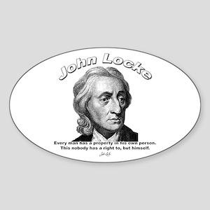 John Locke 02 Oval Sticker