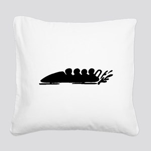 Bobsledding Square Canvas Pillow