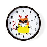 Evil Candy Corn Wall Clock