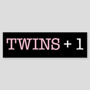 Twins Plus One - Bumper Sticker