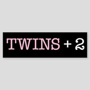 Twins Plus Two - Bumper Sticker