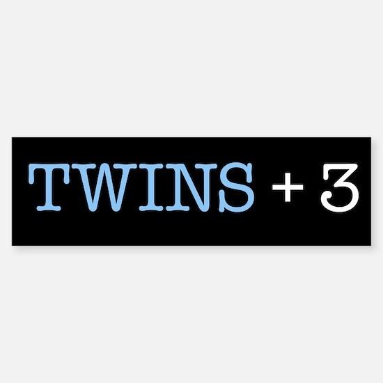 Twins Plus Three - Bumper Bumper Bumper Sticker