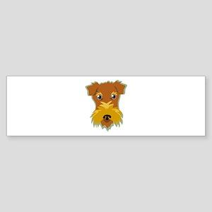 Terrier Head Bumper Sticker