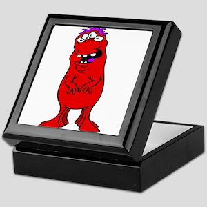 Six legged red & purple Alien Keepsake Box