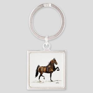 Hackney Pony Square Keychain