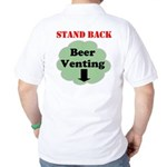 Stand Back Beer Venting Golf Shirt