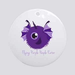 Flying Purple People Eater Ornament (Round)