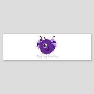 Flying Purple People Eater Bumper Sticker