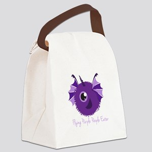 Flying Purple People Eater Canvas Lunch Bag