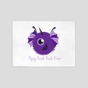 Flying Purple People Eater 5'x7'Area Rug