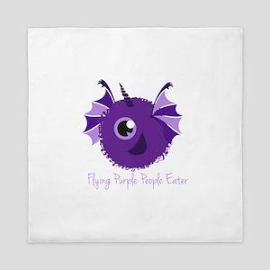 Flying Purple People Eater Queen Duvet
