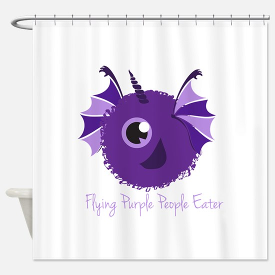 Flying Purple People Eater Shower Curtain