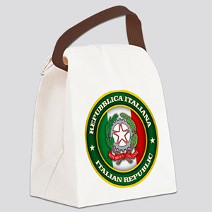 Italy Medallion Canvas Lunch Bag