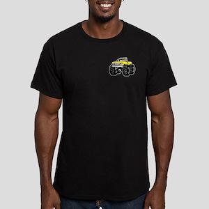 Yellow MONSTER Truck Men's Fitted T-Shirt (dark)