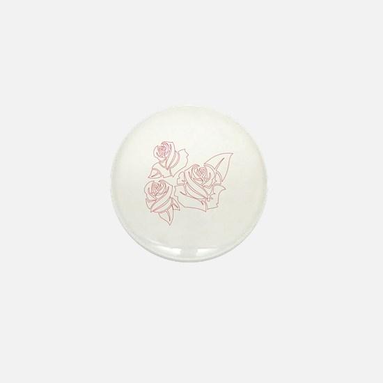 Outline Roses Mini Button