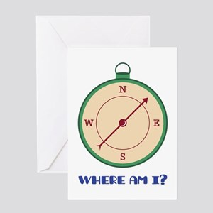 Where Am I? Greeting Cards