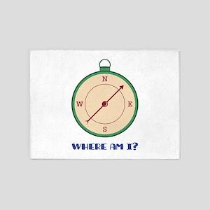 Where Am I? 5'x7'Area Rug