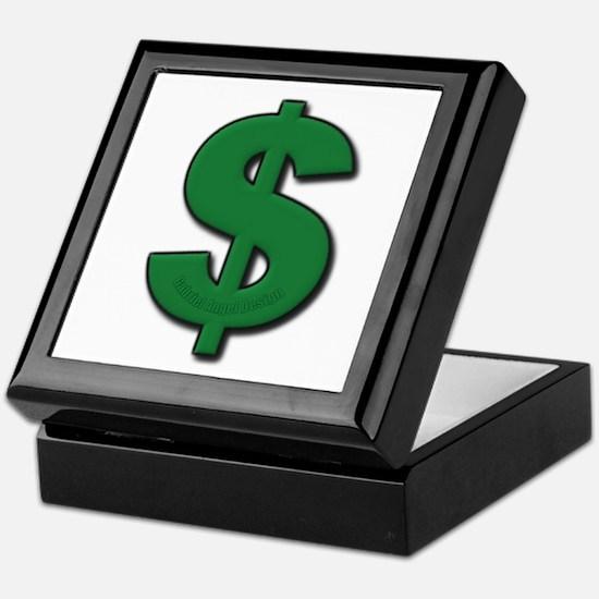Green Dollar Sign Keepsake Box