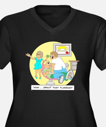 ...about that Flossing Women's Plus Size V-Neck Da