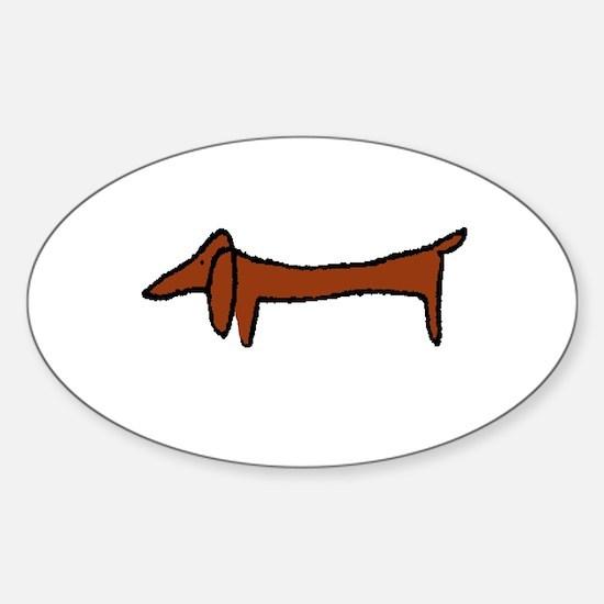 Weiner Dog Oval Decal