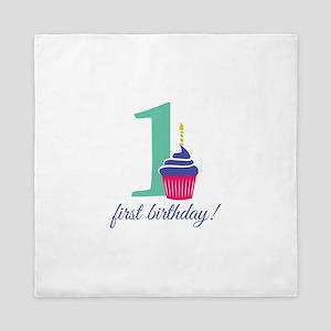 First Birthday! Queen Duvet