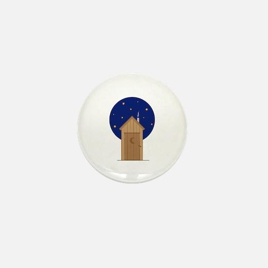 Nighttime Outhouse Mini Button